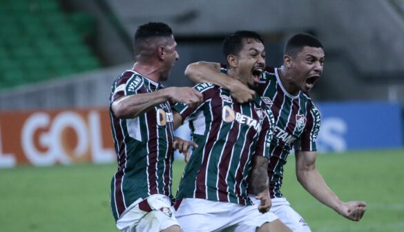 Lucca comemorando seu gol