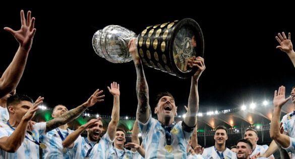 O capitão Messi comemorou como nunca
